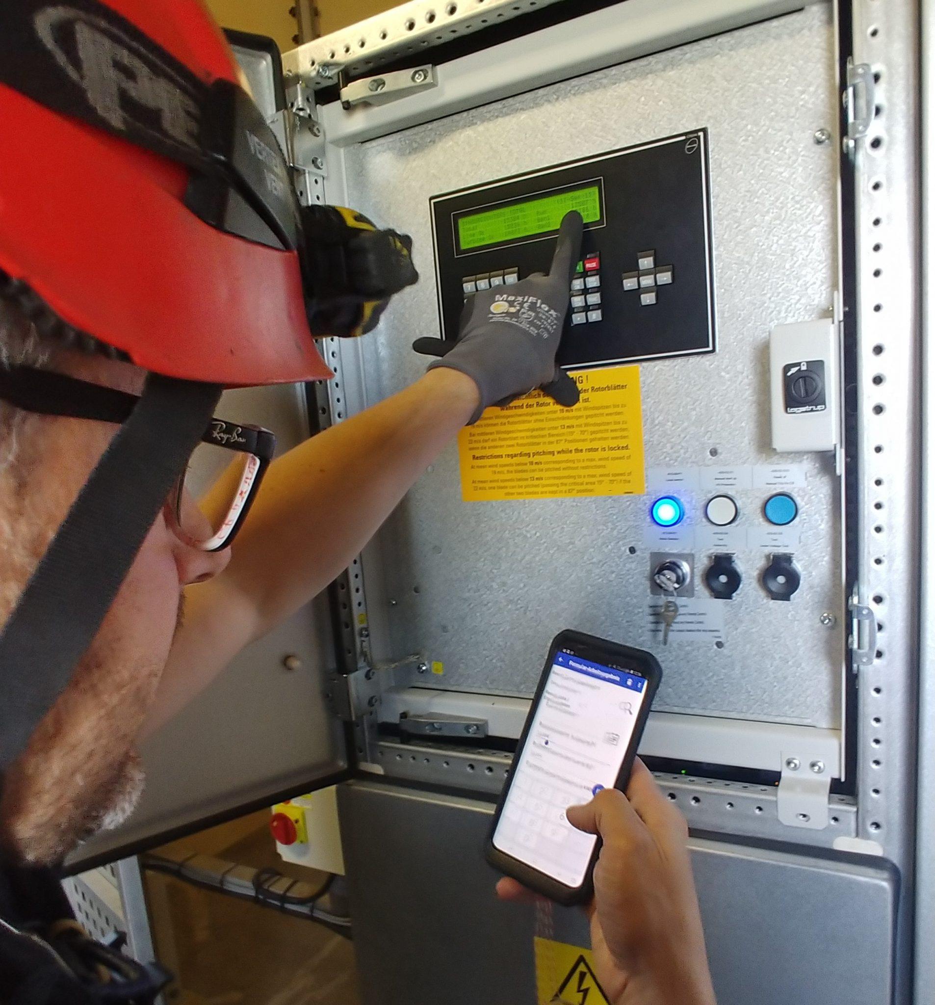 Windenergieinspektion mit mobiler Checkliste