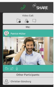 ovulavis share remote support on a mobile